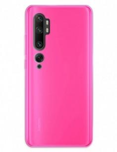 Funda Gel Silicona Liso Rosa para Xiaomi Mi Note 10
