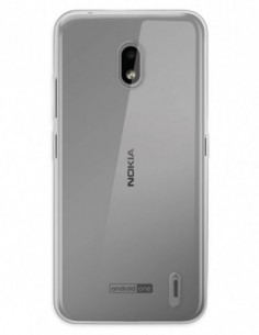 Funda Funda Gel Silicona Liso Transparente para Nokia Lumia 2.2