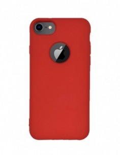 Funda Silicona Suave tipo Apple Roja para Apple iPhone 7