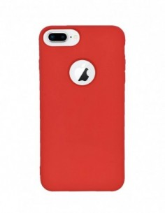 Funda Silicona Suave tipo Apple Roja para Apple iPhone 7 Plus
