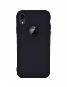 Funda Silicona Suave tipo Apple Negra para Apple iPhone XR
