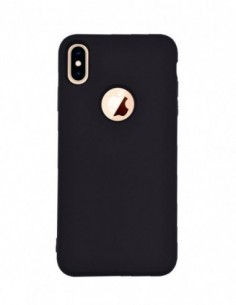 Funda Silicona Suave tipo Apple Negra para Apple iPhone XS Max