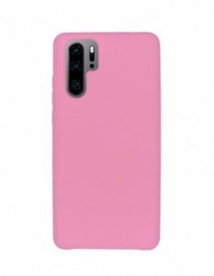 Funda Silicona Suave tipo Apple Rosa Claro para Huawei P30 Pro