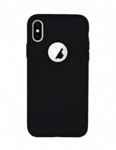 Funda Silicona Suave Negra para Apple iPhone X