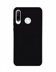 Funda Silicona Suave tipo Apple Negra para Huawei P30 Lite