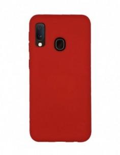 Funda Silicona Suave tipo Apple Roja para Samsung Galaxy A20E