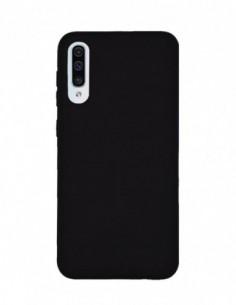 Funda Silicona Suave tipo Apple Negra para Samsung Galaxy A50