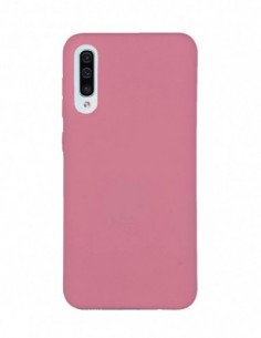 Funda Silicona Suave tipo Apple Rosa Claro para Samsung Galaxy A50