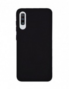Funda Silicona Suave tipo Apple Negra para Samsung Galaxy A70