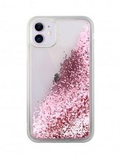 Funda Purpurina Liquida Lisa Rosa para Apple iPhone 11