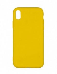 Funda Silicona Suave Amarilla para Apple iPhone XR