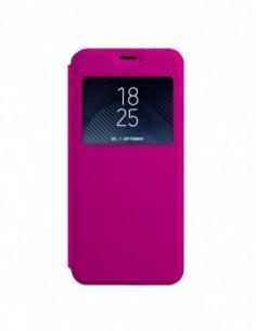 Funda tipo Libro Rosa con Ventana para Huawei Mate 10 Lite