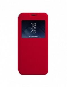 Funda tipo Libro Roja con Ventana para Huawei P20