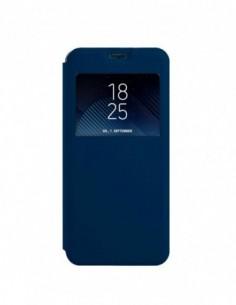 Funda tipo Libro Azul con Ventana para Samsung Galaxy M20