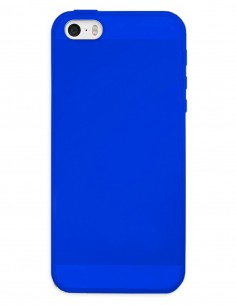Funda Gel Silicona Liso Azul para Apple iPhone SE