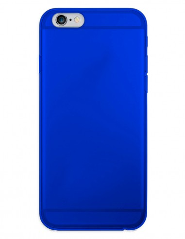 Funda Gel Silicona Liso Azul para Apple iPhone 6
