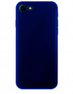 Funda Gel Silicona Liso Azul para Apple iPhone 8