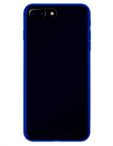 Funda Gel Silicona Liso Azul para Apple iPhone 7 Plus