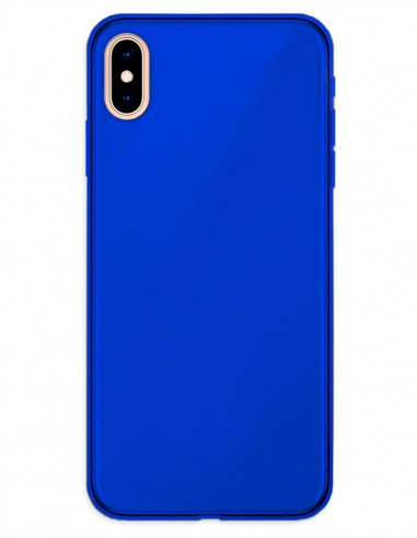 Funda Gel Silicona Liso Azul para Apple iPhone XS Max