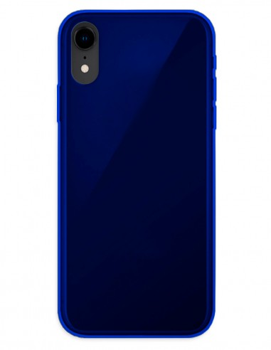 Funda Gel Silicona Liso Azul para Apple iPhone XR