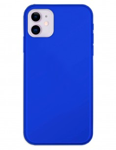Funda Gel Silicona Liso Azul para Apple iPhone 11