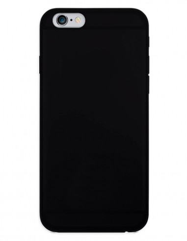 Funda Gel Silicona Liso Negro para Apple iPhone 6S Plus