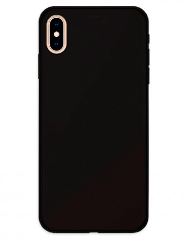 Funda Gel Silicona Liso Negro para Apple iPhone XS