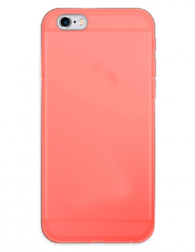 Funda Gel Silicona Liso Rojo para Apple iPhone 6