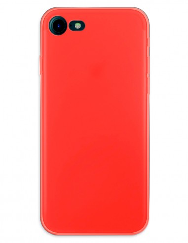 Funda Gel Silicona Liso Rojo para Apple iPhone 7