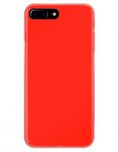 Funda Gel Silicona Liso Rojo para Apple iPhone 7 Plus