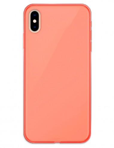 Funda Gel Silicona Liso Rojo para Apple iPhone XS Max
