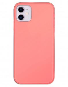 Funda Gel Silicona Liso Rojo para Apple iPhone 11