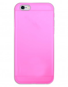 Funda Gel Silicona Liso Rosa para Apple iPhone 6