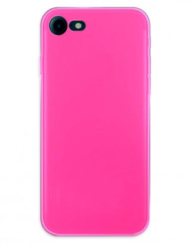 Funda Gel Silicona Liso Rosa para Apple iPhone 8