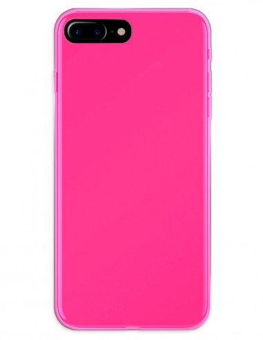 Funda Gel Silicona Liso Rosa para Apple iPhone 7 Plus