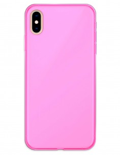 Funda Gel Silicona Liso Rosa para Apple iPhone XS