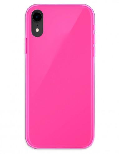 Funda Gel Silicona Liso Rosa para Apple iPhone XR