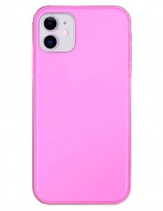 Funda Gel Silicona Liso Rosa para Apple iPhone 11