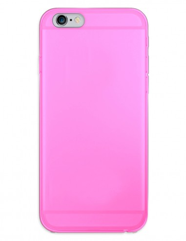 Funda Gel Silicona Liso Rosa para Apple iPhone 6 Plus