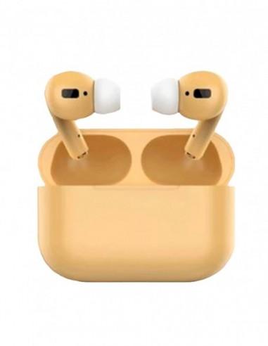 Auriculares Bluetooth Air Pro Color Caramelo Amarillo