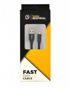 Cable USB 2.0 A a Lightning (iPhone) Reforzado Negro