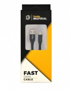 Cable USB 2.0 A a USB tipo C Reforzado Negro