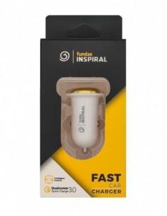 Cargador Coche USB 2.0 Dorado