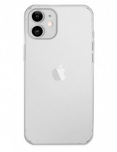 Funda Gel Silicona Liso Transparente para Apple iPhone 12