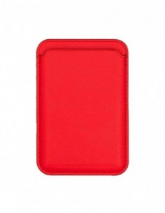 Tarjetero iMagsafe compatible Rojo