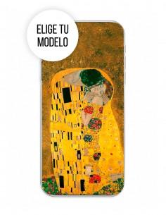 """Funda Gel Silicona Arte - El Beso """"Klimt"""""""