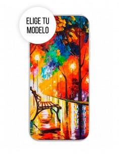 "Funda Gel Silicona Arte - Loneliness of Autumn ""Afremov"""