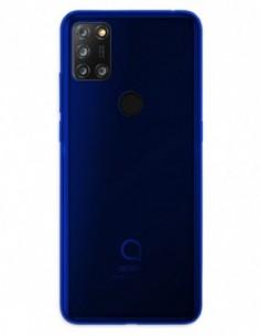 Funda Gel Silicona Liso Azul para Alcatel 3X 4 Cam