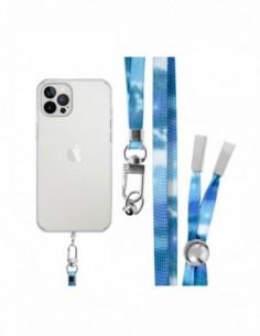 Cordón Plano para colgar el móvil (tarjeta) Azul