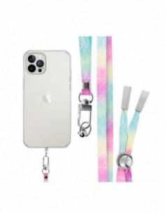 Cordón Plano para colgar el móvil (tarjeta) Multicolor Rosa